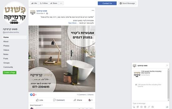 בתמונה רואים ניהול קמפיין של פייסבוק